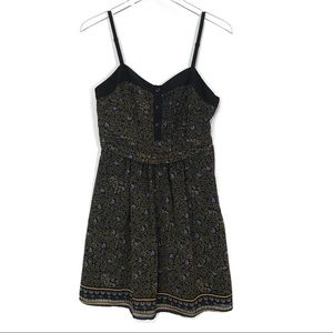UO Staring At Stars Printed Sweetheart Dress SZ 6